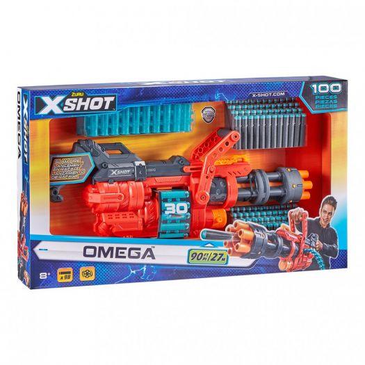 Швидкострільний бластер X-Shot EXCEL OMEGA (обойма на 30 патронів, 98 патронів) (36430Z)купити