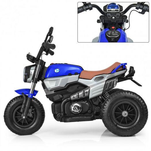 Мотоцикл дитячий Bambi Racer на акумуляторі, синій (M 3687AL-4)купити