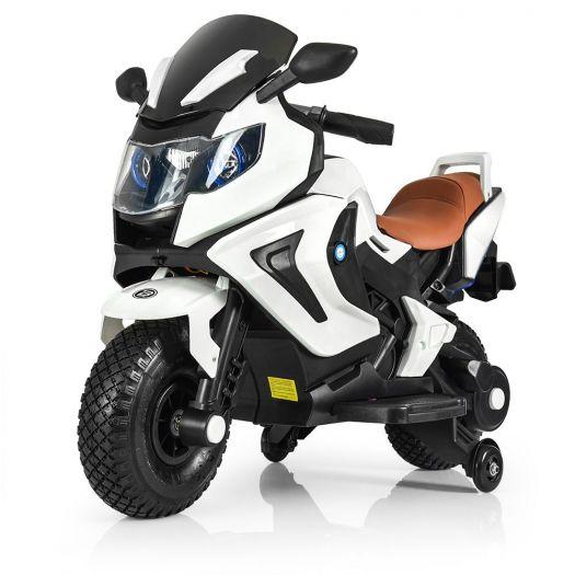 Мотоцикл дитячий Bambi Racer на акумуляторі, білий (M 3681AL-1)замовити