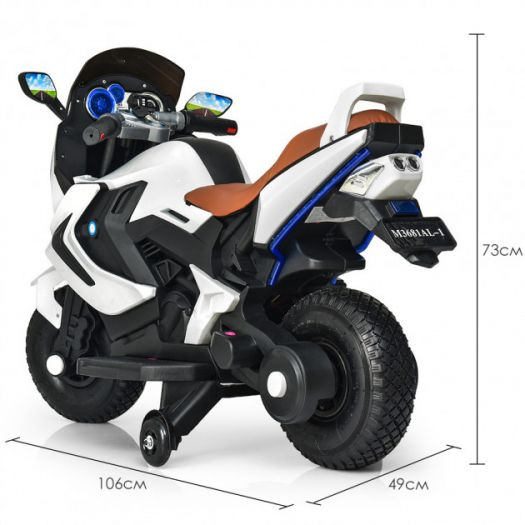 Мотоцикл дитячий Bambi Racer на акумуляторі, білий (M 3681AL-1)в Україні