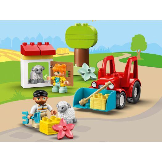 Конструктор LEGO Duplo Фермерський трактор і тварини (10950)купити