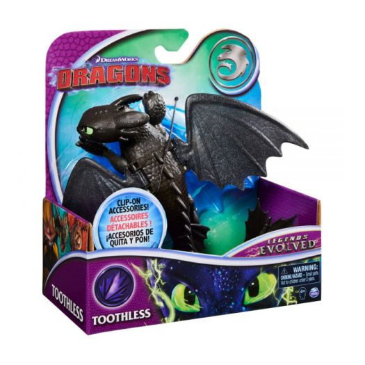 Колекційна фігурка DRAGONS Як приборкати дракона 3 Беззубик з механічною функцією (SM66620/6394)купити