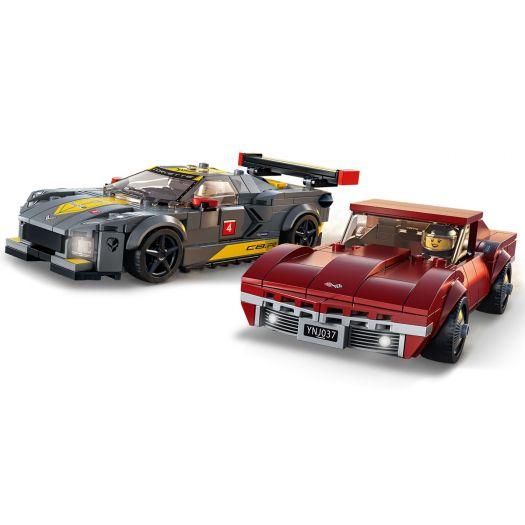 Конструктор  LEGO Speed champions Гоночний Chevrolet Corvette C8R та Chevrolet Corvette 1968 (76903)замовити